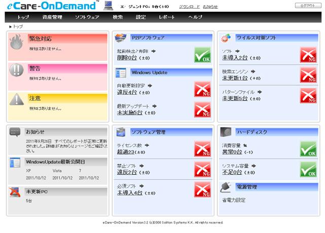 クラウド型パソコン管理サービス OnDemandシリーズ