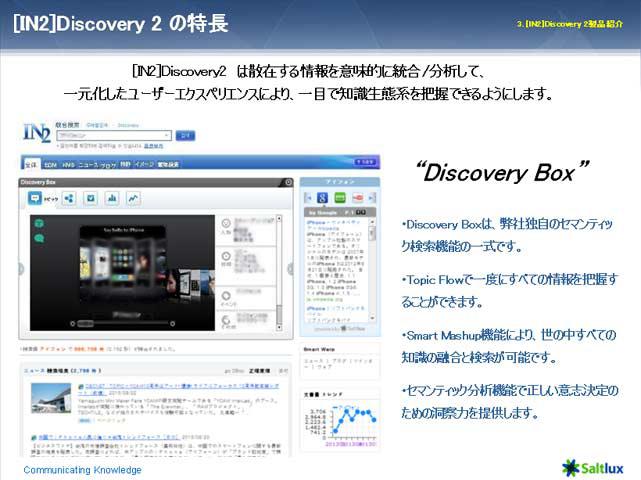 セマンティック統合検索エンジン [IN2] Discovery 2