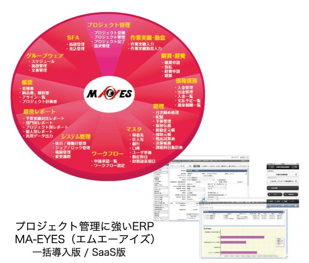 プロジェクト型ERP MA-EYES(エムエーアイズ)