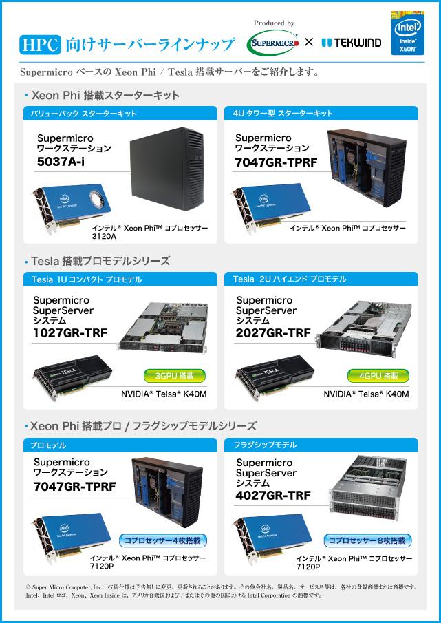 HPC向けサーバーシステム