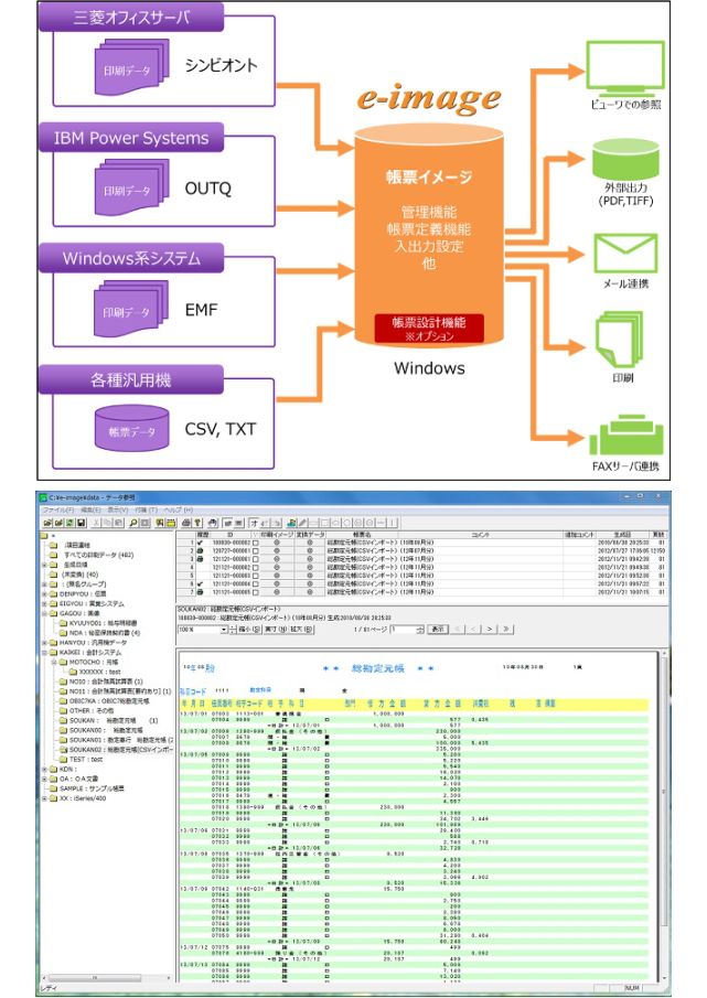 電子帳票システム e-image