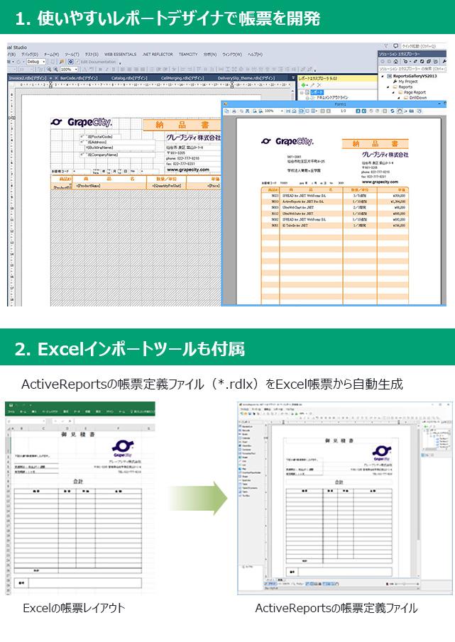 帳票開発ツール ActiveReports for .NET