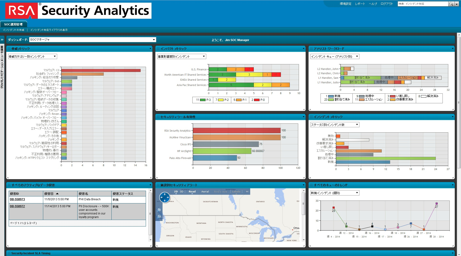 脅威検出/分析プラットフォーム RSA Security Analytics