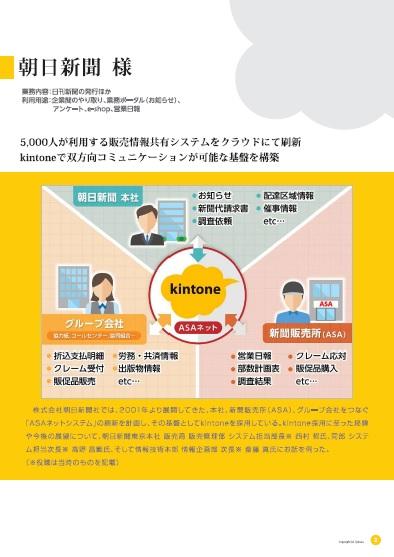 5000人の双方向コミュニケーションを活発化、朝日新聞に学ぶ「kintone」活用術