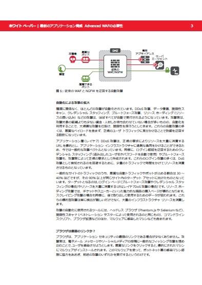 WAFやNGFWをすり抜ける自動化攻撃は、能動的なセキュリティ機能で防ぐ