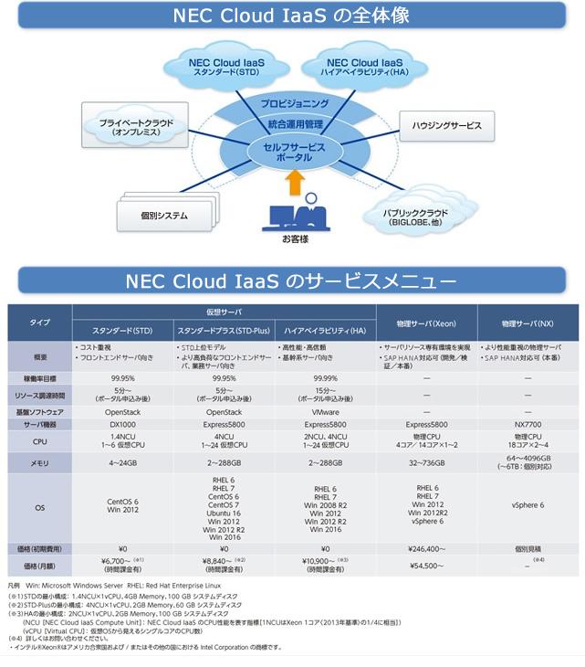 クラウド基盤サービス NEC Cloud IaaS