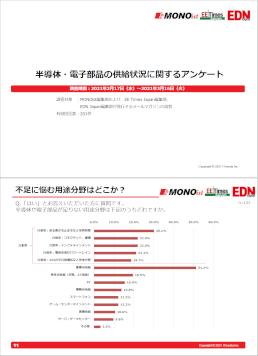 半導体・電子部品の供給状況に関する調査結果